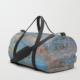 Blue Wood Grain Duffle Bag