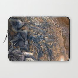 Swirling Clouds of Planet Jupiter Close Up from Juno Cam Laptop Sleeve