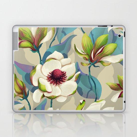 magnolia bloom - vivid version Laptop & iPad Skin