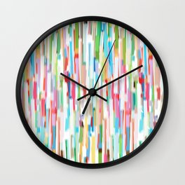vertical brush strokes  Wall Clock