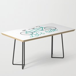 Let's Ride Tandem Bicycle - Teal Coffee Table