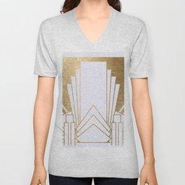 Art Deco design - blonde Unisex V-Neck
