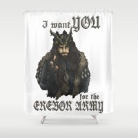 thorin Shower Curtains featuring Uncle Thorin by ScottyTheCat