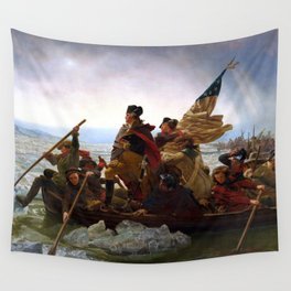 Washington Crossing The Delaware River Wall Tapestry