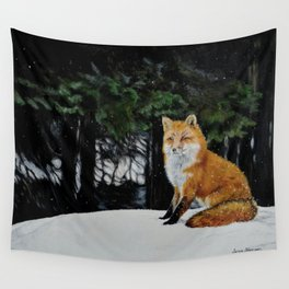 Red Fox of Algonquin by Teresa Thompson Wall Tapestry