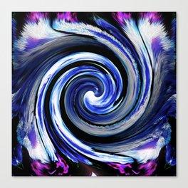 A Blue Azalea Twist v.1 Canvas Print