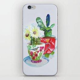 Cacti In Cups iPhone Skin