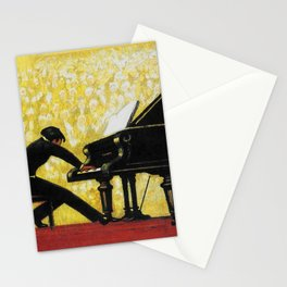 Vintage Piano Recital Illustration (1920) Stationery Cards