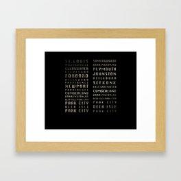 RK & CBO Framed Art Print