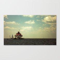 Sailing at Thomas Point Canvas Print