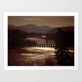 Curlew Lake WA state  Art Print