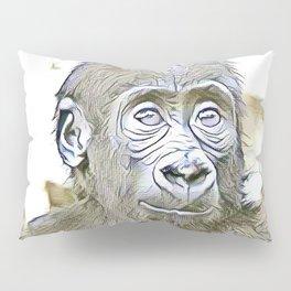 fascinating altered animals - Gorilla Baby Pillow Sham