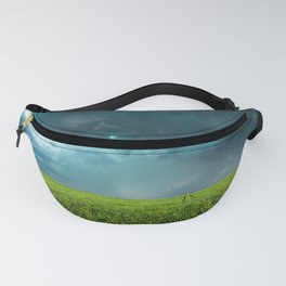 April Showers - Colorful Stormy Sky Over Lush Field in Kansas Fanny Pack