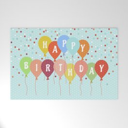 Colorful Birthday card Welcome Mat