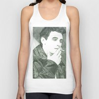 james franco Tank Tops featuring Mr Franco by Troy Salmon Art