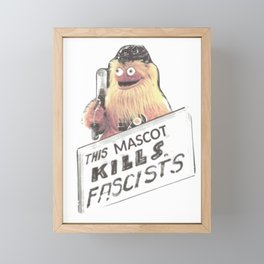 This Mascot Kills Fascists Framed Mini Art Print