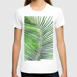 Palm watercolor leaf- Tropical print T-shirt