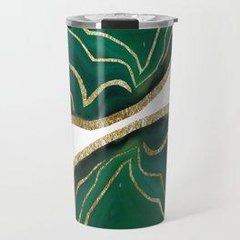 Emerald Agate Gold Glam #1 #gem #decor #art #society6 Travel Mug