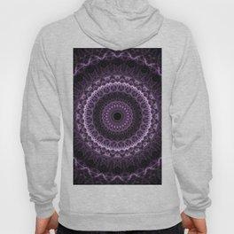 Detailed mandala in gray and violet tones Hoody