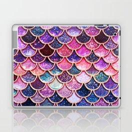 Pink & Purple Trendy Glitter Mermaid Scales Laptop & iPad Skin