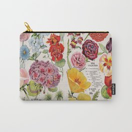 Iowa Seed Co vintage flowers Carry-All Pouch