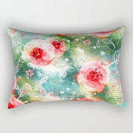 Abstract painting nature and geometric Rectangular Pillow