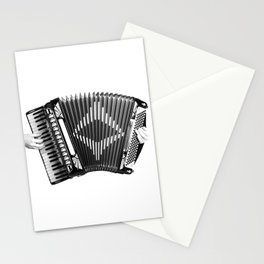 Accordion being squeezed Stationery Cards