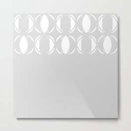 Abstract pattern - gray and white. Metal Print