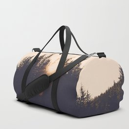 Wooded Lake Reflection  - Nature Photography Duffle Bag