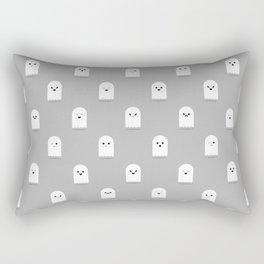 Cute Ghost Pattern - Grey Rectangular Pillow
