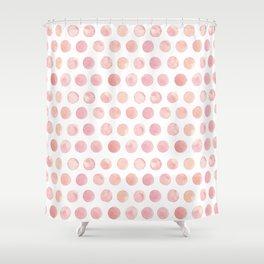 Watercolor Polka Dot Shower Curtain