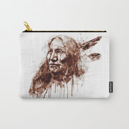Native American Portrait Sepia Tones Carry-All Pouch