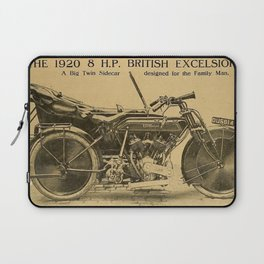 1920 British Excelsior Twin Side Car Motorcycle Advertisement Laptop Sleeve