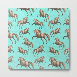 Galloping Spanish Horses Metal Print