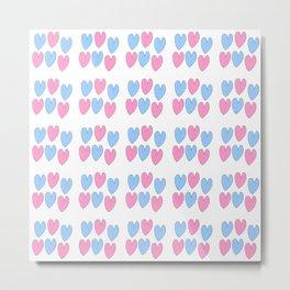 hearts 3-heart,love,romantism,girl,sweet,women,romantic,cute,beauty Metal Print
