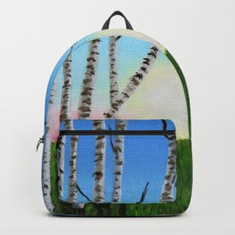Birch Trees at Sunset Backpack