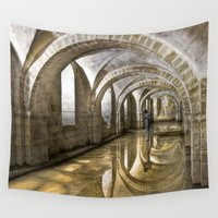 winchester Wall Tapestries featuring Winchester Cathedral Crypt by Alice Gosling