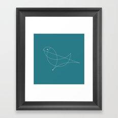 Contours: Dove (Line) Framed Art Print