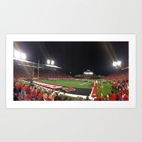 football Art Prints featuring Football by Yellow Barn Studio