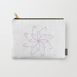 Ombre Lotus Outline Carry-All Pouch