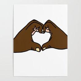 Heart Hands Poster