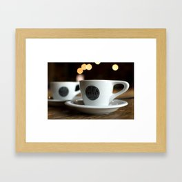 """there's too much caffeine in your bloodstream"" Framed Art Print"