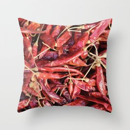 Chili Chipotle red hot Throw Pillow