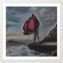Tulip and the sea Art Print