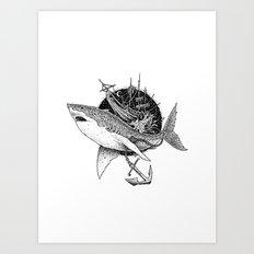 Shark of the Midnite Story Art Print