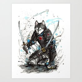 Year of the Dog...Samurai! Art Print