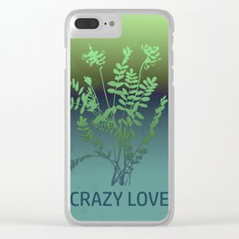 CRAZY LOVE Clear iPhone Case