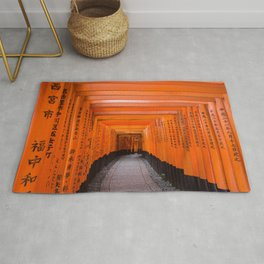 Japan Travel Photo - Fushimi Inari Shrine Rug