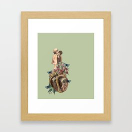 children don't grow up, our bodies get bigger but our hearts get torn up. Framed Art Print