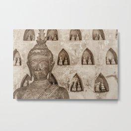 Wat Si Saket Buddhas V, Vientiane, Laos Metal Print